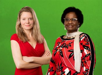 Henrike Hahn und Pierrette Herzberger-Fofana, die neuen bayerischen Abgeordneten der Grünen im Europaparlament