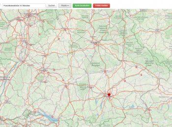Screenshot der OpenStreetMap-Karte von Bayern