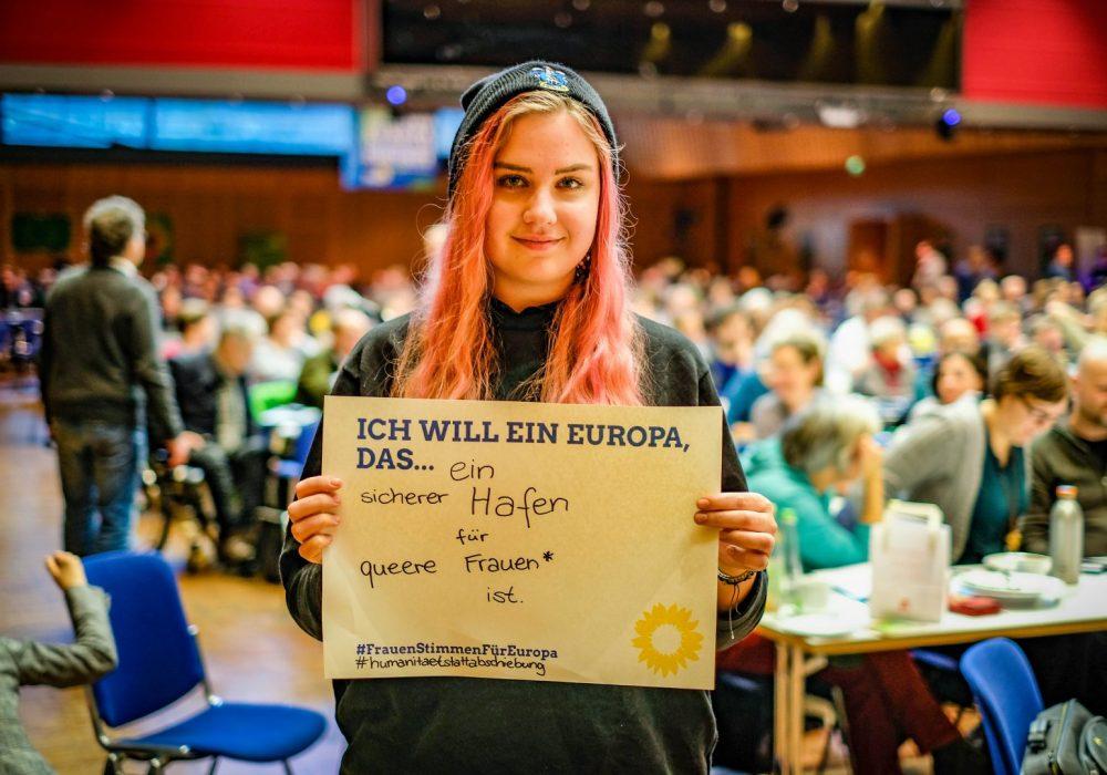 #FrauenStimmenfürEuropa_Ich will ein Europa, das_Frauentag_Grüne Bayern_LDK 2