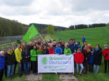 Wanderung Grünes Band Gruppenfoto