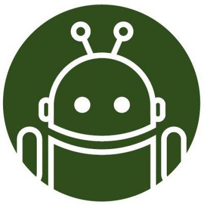 Kleiner Roboter als Symbol für den Wahlkampf-Typ Digital Native