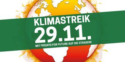 Klimastreik 29.11.: Mit Fridays for Future auf die Straßen!