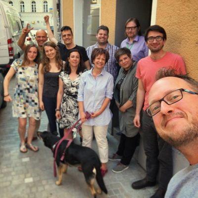Die Mitglieder der grünen Landesarbeitsgemeinschaft (LAG) Ökologie in Bayern