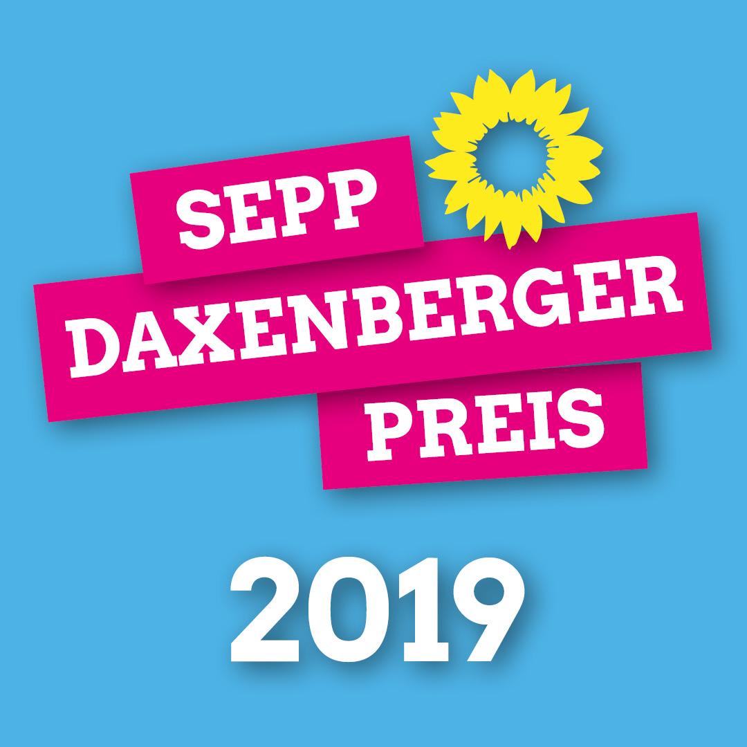 Der Sepp-Daxenberger-Preis geht eine Person oder Organisation, die sich für den Erhalt unserer Lebensgrundlagen und unserer gesellschaftlichen Werte einsetzt.