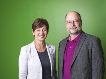 Sigi Hagl und Eike Hallitzky, Vorsitzende im Landesvorstand der bayerischen Grünen