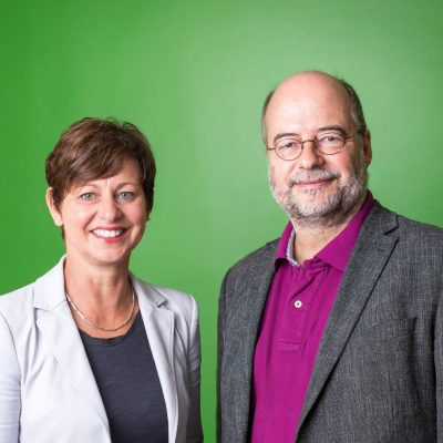 Sigi Hagl und Eike Hallitzky, Landevorsitzende der bayerischen Grünen