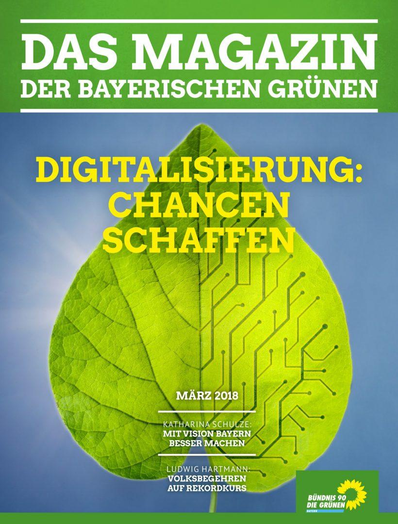 Titelseite des Magazins Nr. 1/2018: Digitalisierung - Chancen schaffen