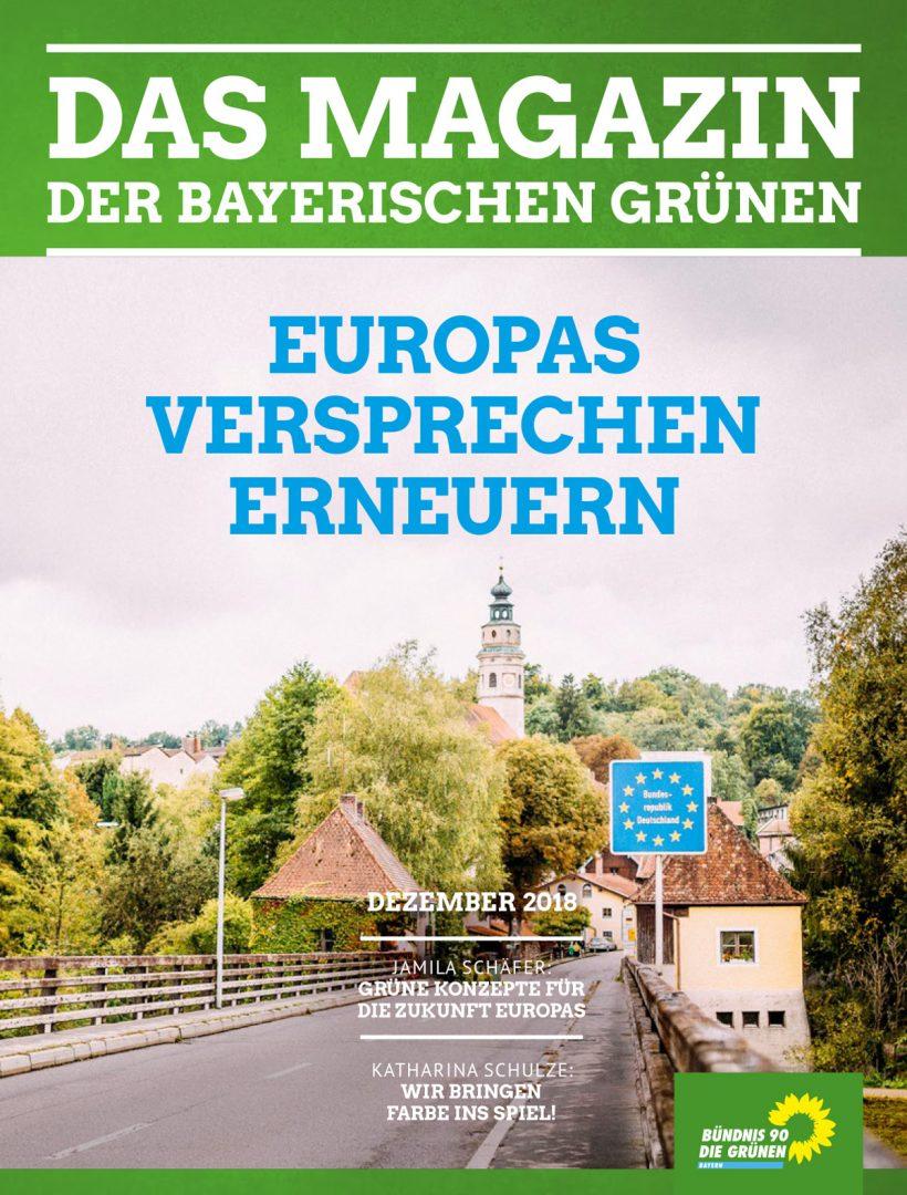 Titelseite des Magazins Nr. 4/2018: Europas Versprechen erneuern