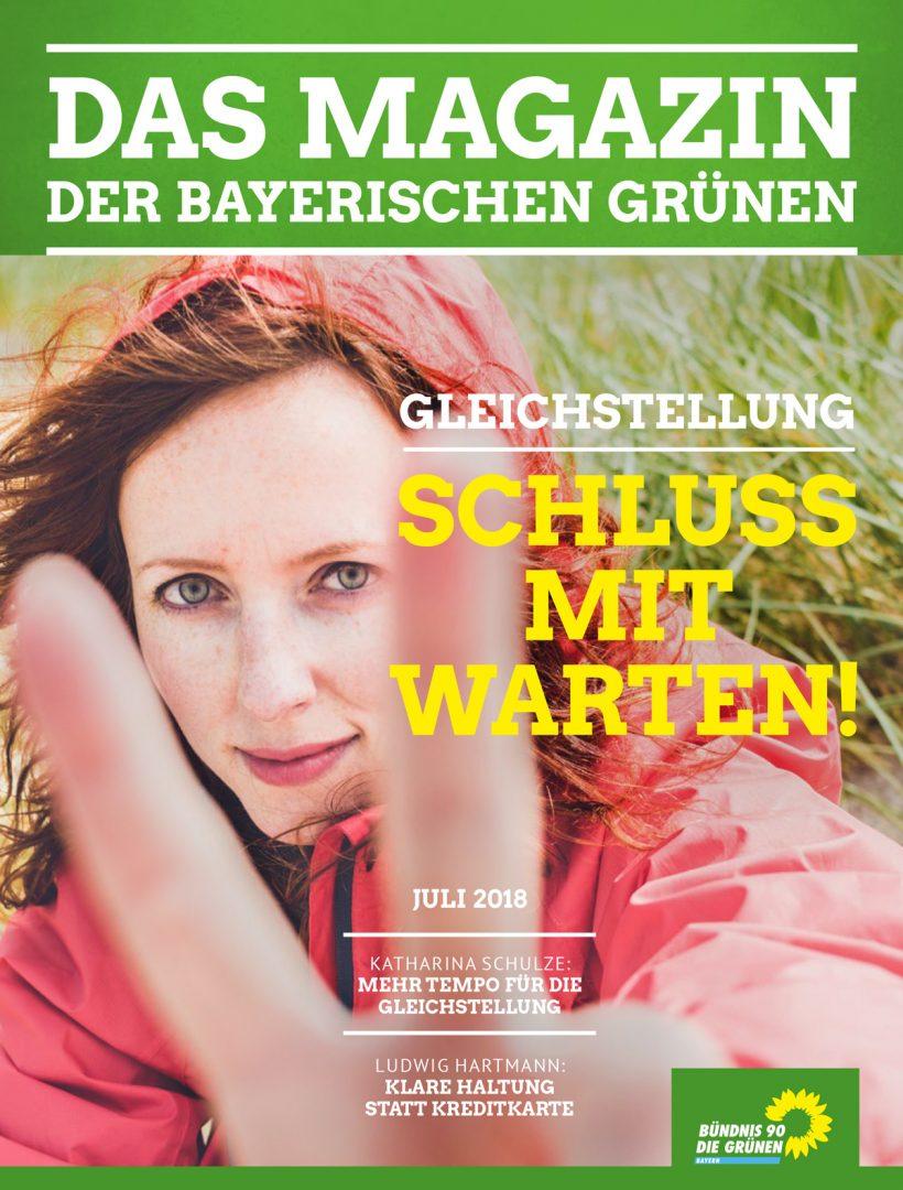 Titelseite des Magazins Nr. 2/2018: Gleichstellung - Schluss mit Warten