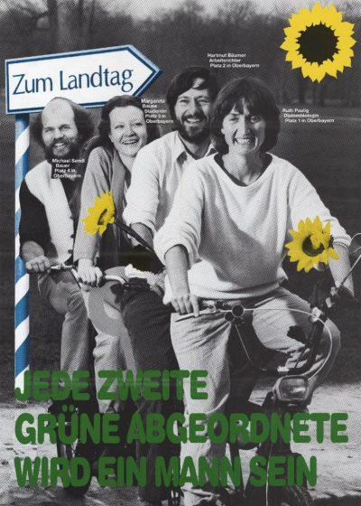 1986_Wahlplakat-Landtagswahl_Jede-zweite-grueneAbgeordnete-wird-ein-Mann-sein