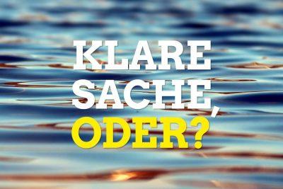 Weltwassertag_Klare Sache