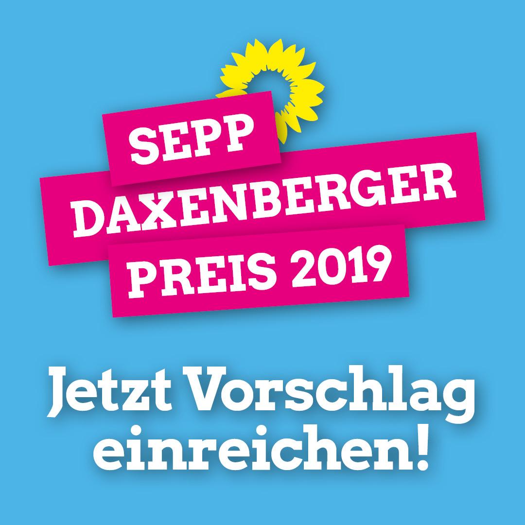 Sepp-Daxenberger-Preis 2019: Reiche jetzt deinen Vorschlag ein!