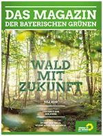 Wald mit Zukunft: Titelseite des Magazins der bayerischen Grünen Nr. 1/2020